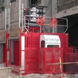 2トンの二重ケージの建物の起重機のエレベーターSc200/200