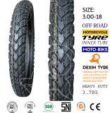 La motocicleta de los dientes de la flecha parte el neumático 3.00-18 de la motocicleta del neumático de la motocicleta de la moto