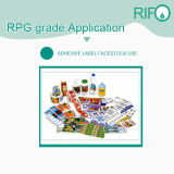Materia prima della carta da parati di carta sintetica di Rpg-145 pp per rotocalco stampabile