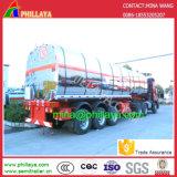 Acoplado inoxidable del tanque de acero del Tri-Árbol 42000L 304 del petróleo del alimento semi