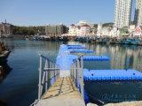 Muelle el pontón de flotación