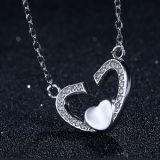 Collar pendiente en forma de corazón de Soulmate de la plata esterlina de la manera 925 de las mujeres