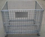 Pieghevole & Stackable Wire Mesh Pallet Cage per Warehouse Storage