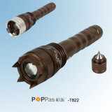 2014 antorcha táctica del nuevo amortiguador rotatorio LED del CREE XP-E R2 (Poppas-T822)