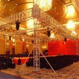 Fascio esterno della fase della fiera commerciale di evento di concerto del sistema del tetto dello zipolo del DJ