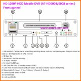 H. 264 High Definition 4 / 8CH HDD Mobile DVR avec WiFi 3G 4G GPS Tracking