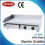 Встречный верхний электрический половинный плоский половинный Grooved Griddle
