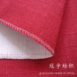 Linen sintetico Fabric con Polyester Backing per Sofa