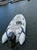 Pequeño barco rígido de la costilla de la pesca de la fibra de vidrio del casco de Liya el 12.5ft para la venta