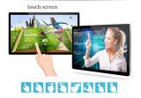 55 pulgadas que hacen publicidad del quiosco montado en la pared del monitor de la pantalla táctil del indicador digital del panel del LCD