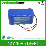 Ciclo profundo 12V 10Ah LiFePO4 para luz de emergencia