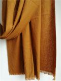 カシミヤ織によってブラシをかけられる薄いショールXc09149A