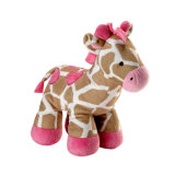 Jouet mou de peluche de jouet de giraffe bleue mignonne de peluche pour des gosses