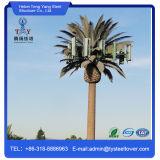 Torre libre de la palmera del soporte del solo tubo para las telecomunicaciones