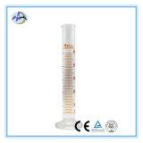 Cylindre de mesure de verre à borosilicate pour verrerie de laboratoire
