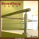 Los chinos fabrican el pasamano de la cubierta del acero inoxidable con la barandilla superior (SJ-X1050)