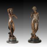 Vrouwelijk Standbeeld tpe-893/895/896 van het Messing van het Decor van de Fee van het Beeldhouwwerk van het Brons van de Grootte van de Inzameling Klein