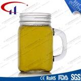 tasse de maçon en verre de silex 430ml avec le chapeau (CHM8117)