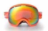 L'anti brouillon de femmes folâtre des lunettes de lunetterie pour le surf sur neige