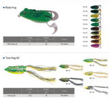 Richiamo di pesca della rana del corpo del silicone dell'amo a buon mercato Vmc