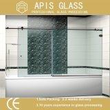 Das portas de vidro do chuveiro de Frameless vidro Tempered com entalhe e furos cortados