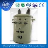 Trasformatore di distribuzione montato palo a bagno d'olio standard di monofase 10kV/11kV dell'ANSI