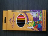 Crayon en bois avec le crayon de crayon de couleur de gomme à effacer