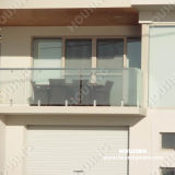 Handrail를 가진 Frameless Tempered Glass Railing/Balustrade