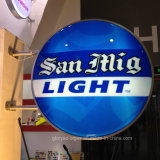 Pared que hace publicidad de la muestra de acrílico del café LED de la muestra del café del LED