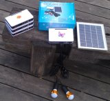 sistema eléctrico solar de la iluminación del hogar LED de 3PCS 2W