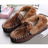 軽いエヴァOutsoleが付いている方法カンガルーの毛皮の人の靴