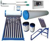 Inférieur/pression/Unpressure/chauffe-eau chaud solaire à énergie solaire de tube électronique non-pressurisé de collecteur de réservoir d'eau de système de caloduc d'acier inoxydable