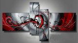 Pintura al óleo hecha a mano de Group Modern Art Abstract para Wall Decoration (XD4-020)