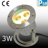 IP68 lumière sous-marine d'endroit de l'acier inoxydable DEL avec la bride (JP90031)
