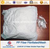 Fibra fibrilada polipropileno anti del acoplamiento de los PP de la grieta