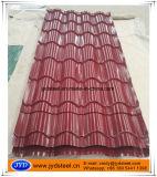 Hoja acanalada esmaltada del material para techos del color del diseño