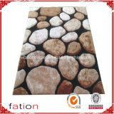 L moderno interno tapetes de área Shaggy do tapete de 3D com efeitos de pedra