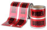 明白なTaobaoの試供品の地下の探索可能な耐火性のアルミホイルの警告テープ熱い販売