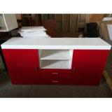 Hoher glatter rote Farben-hölzerner Panel Fernsehapparat-UVschrank