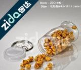 Frasco plástico pequeno do alimento para frascos baratos do tamanho de amostra da amostra da mão