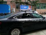 Visualización de LED al aire libre impermeable de la tapa del taxi del brillo de clase superior