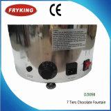 Acier inoxydable machine de fontaine de chocolat d'usager de 3/5/7 rangées