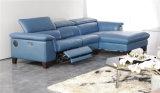 3 couleurs garnissent en cuir le sofa avec le mécanisme de Recliner