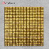 Мозаики стикера стены мозаики Royllent цвет металлической золотистый кроет украшение черепицей ванной комнаты DIY