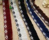 衣服のアクセサリのための普及した流行の1つの側面のレースのフリンジ