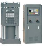 Máquina de prueba concreta de la compresión con el ordenador