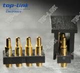 금에 의하여 도금되는 금관 악기 봄 Pogo 핀 커넥터