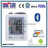 Беспроволочный тип монитор запястья руки Bt4.0 кровяного давления (BP 60EH-BT) с случаем