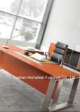 L Shape Modern Office Desk with Stainless Steel Leg (HF-SIA01)