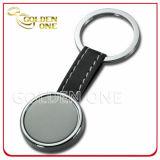 질 주문 각인된 강철에 의하여 솔질되는 완료 튼튼한 가죽 Keychain